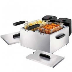 Princess 183123 RVS - Dubbele friteuse, 2x 3L, 2x 1800 Watt